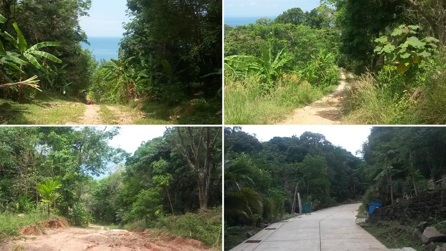 Дорога, ведущая от пляжа Ката Ной к улице Kata-Sai Yuan Rd, далее к смотровой площадке Карон-Ката