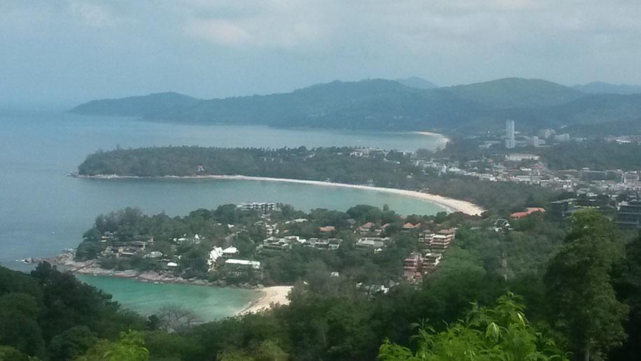 Пляжи Карон, Ката и Ката Ной, вид со смотровой площадки Карон Вив Поинт