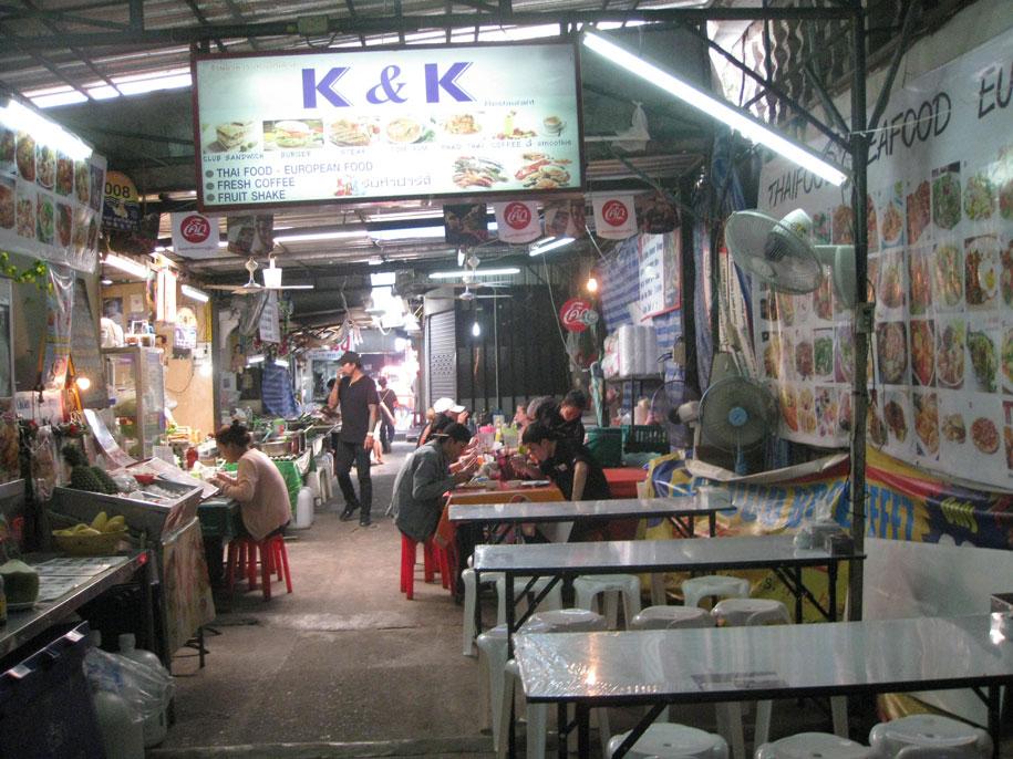 Тайская еда на улице  Бангла Роуд