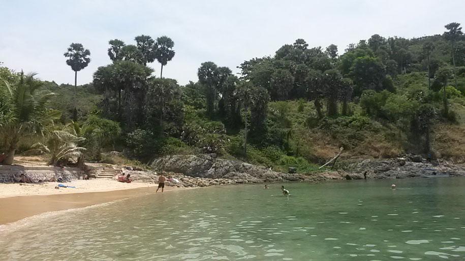 Южная часть пляжа Януй