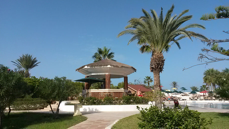 Бар у бассейна в отеле Джерба Плаза, Тунис