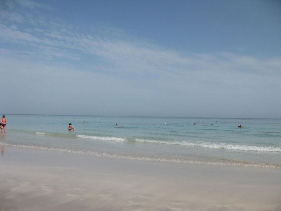 Море, отель Джерба Плаза, Тунис