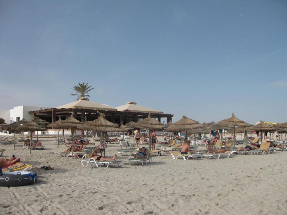 Пляж отеля Джерба Плаза, Тунис
