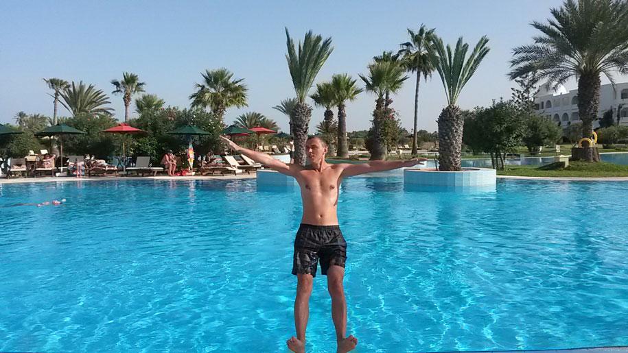 Бассейн отеля Джерба Плаза, Тунис