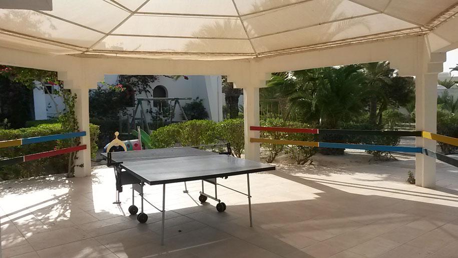 Настольный теннис в отеле Джерба Плаза, Тунис