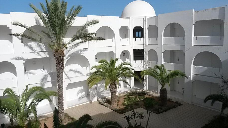 Внутренний двор отеля Джерба Плаза, Тунис