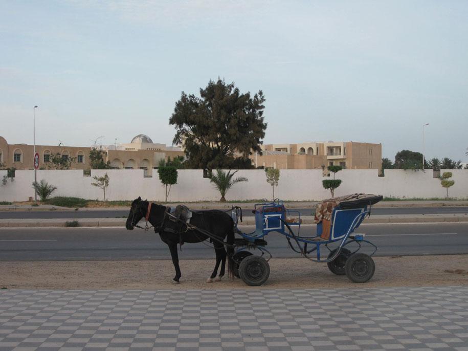 На улицах возле отеля Джерба Плаза, Тунис