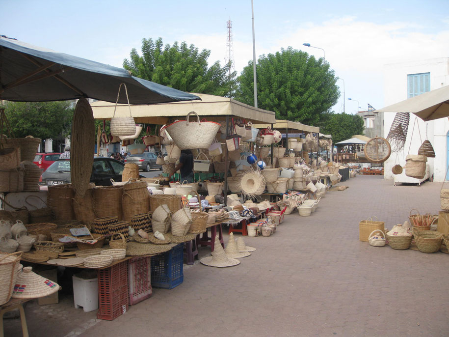 Рынок в Хумт-Сук, остров Джерба, Тунис