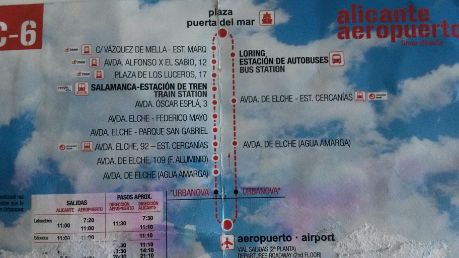 Как добраться с бенидорма до аэропорта аликанте испания