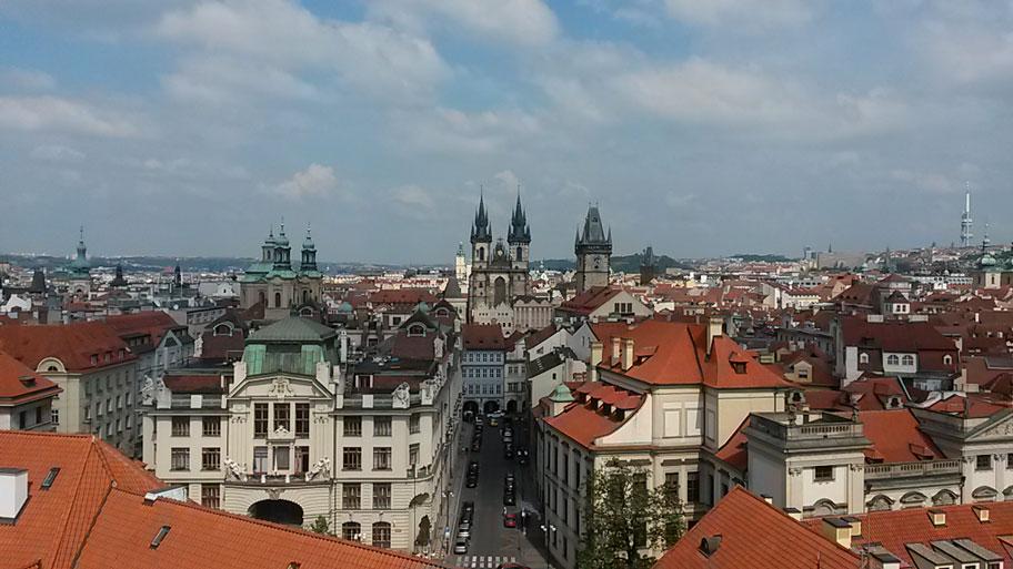 Достопримечательности Праги - вид с Астрономический башни Клементинума