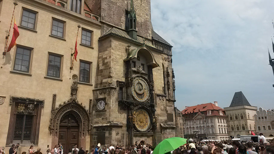 Достопримечательности Праги - Староместская Ратуша и часы Орлой